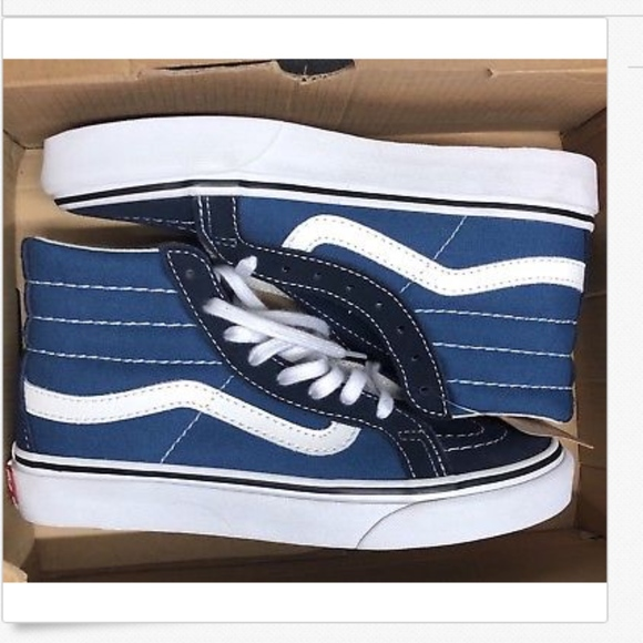 487795be62 Vans Sk8 Hi Slim Navy Shoes Size Youth 3.5